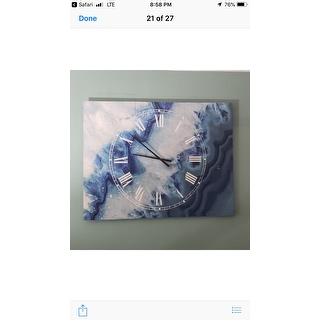 Designart Geode Slice Macro Cottage 3 Panels Large Wall Clock 36 In Wide X 28 In High 3 Panels On Sale Overstock 26291636