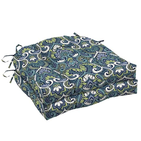 Arden Selections Sapphire Aurora Damask Wicker Seat Cushion 2-pack - 18 in L x 20 in W x 5 in H