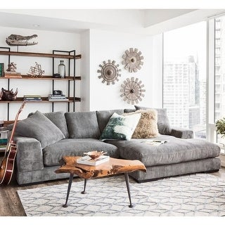 Link to Aurelle Home Reversible Contemporary Sectional Sofa Similar Items in Sofas & Couches