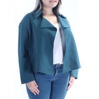 ANNE KLEIN Womens Green Blazer Wear To Work Jacket  Size: 14