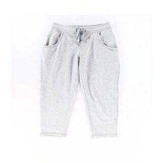 Zella NEW Gray Womens Size Medium M Capris Cropped Drawstring Pants