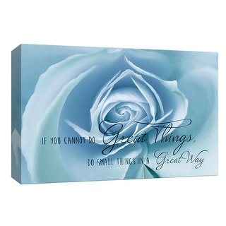 """PTM Images 9-148136  PTM Canvas Collection 8"""" x 10"""" - """"Do Great Things"""" Giclee Roses Art Print on Canvas"""