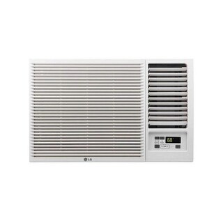 LG LW8016HR 7,500 BTU 115V Window-Mounted Air Conditioner with 3,850 BTU Supplemental Heat Function - White