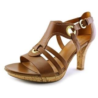 Naturalizer Dalena N/S Open Toe Leather Platform Sandal