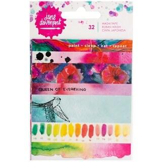 Jane Davenport Mixed Media Washi Tape Book W/5 Sheets-Strips & Phrases