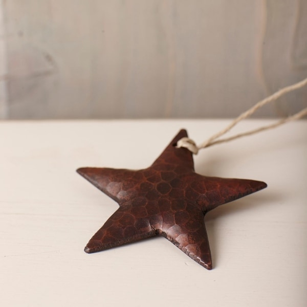 Native Trails CPO33 Accents Handmade Copper Hanging Star Ornament - N/A