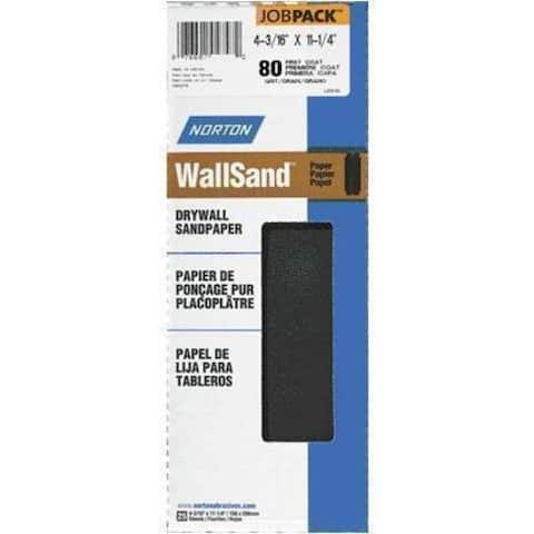 "Norton 04747 Drywall Sandpaper, 4-3/16"" x 11-1/4"""