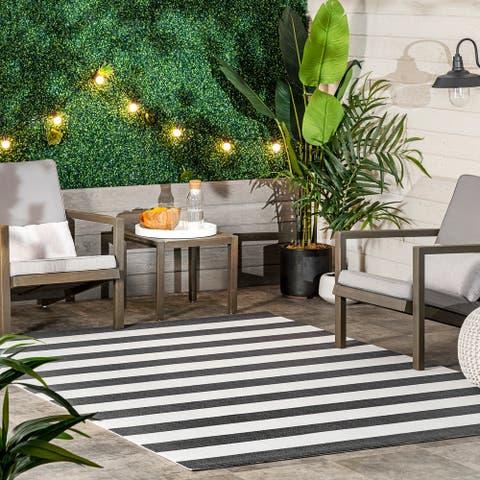 nuLOOM Christa Striped Indoor/Outdoor Area Rug