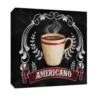 """PTM Images 9-147309  PTM Canvas Collection 12"""" x 12"""" - """"Americana"""" Giclee Coffee, Tea & Espresso Art Print on Canvas"""