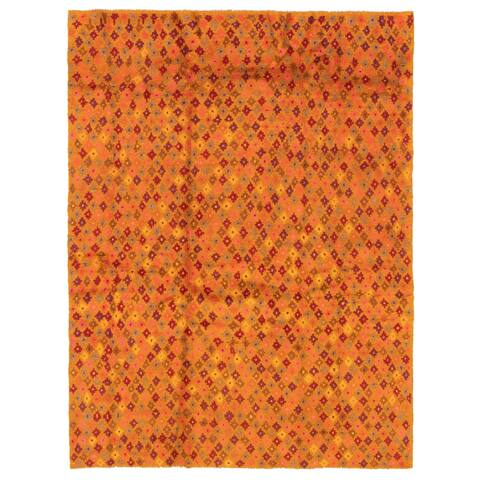ECARPETGALLERY Hand-knotted Baluch Copper Wool Rug - 5'11 x 7'10