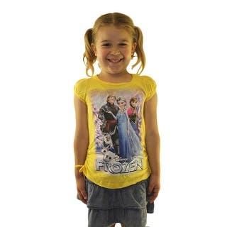 Frozen Elsa, Anna, Olaf & Kristoff Junior's Yellow T-shirt|https://ak1.ostkcdn.com/images/products/is/images/direct/18cd3533d027683ae6009b5cc29441de7a1686e0/Frozen-Elsa%2C-Anna%2C-Olaf-%26-Kristoff-Junior%27s-Yellow-T-shirt.jpg?impolicy=medium