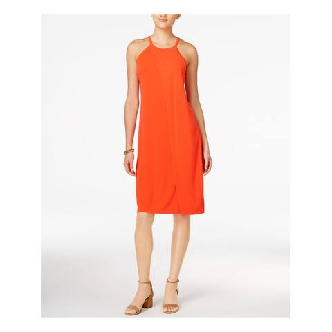 BAR III $70 Womens New 1320 Orange Sleeveless Halter Sheath Dress 2XS B+B