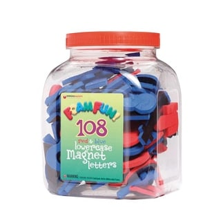 Dowling Miner Foam Fun 108 Magnetic Letters, Lowercase, Set of 112