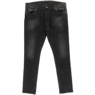 Guess Mens Distressed Low Rise Slim Jeans - 38