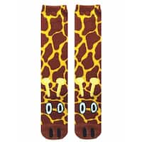 Giraffe Photo Print Knee High Socks