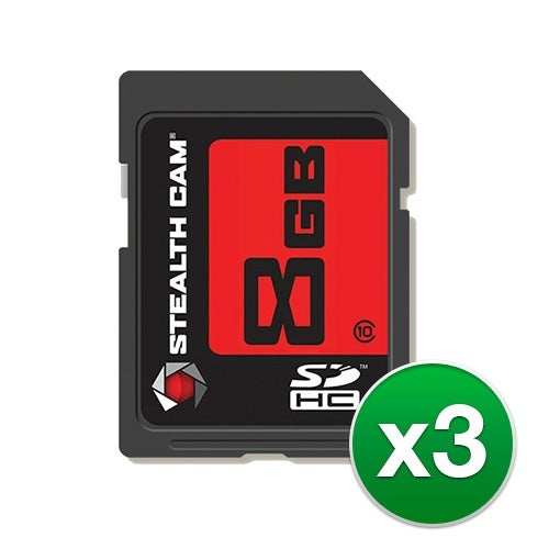 """""""Stealth Cam SD Memory Card (3-Pack) SD Memory Card"""""""