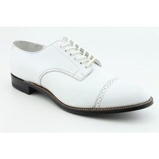 Stacy Adams Madison Men 2E Cap Toe Leather White Oxford