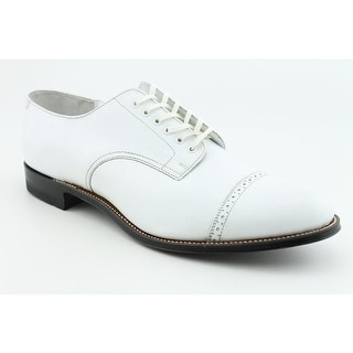 Stacy Adams Madison Men Cap Toe Leather White Oxford