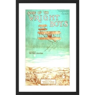 Marmont Hill Wright Brothers - Black Framed Art Print Smithsonian Black Framed Giclee Art Print on High Resolution Archive Paper