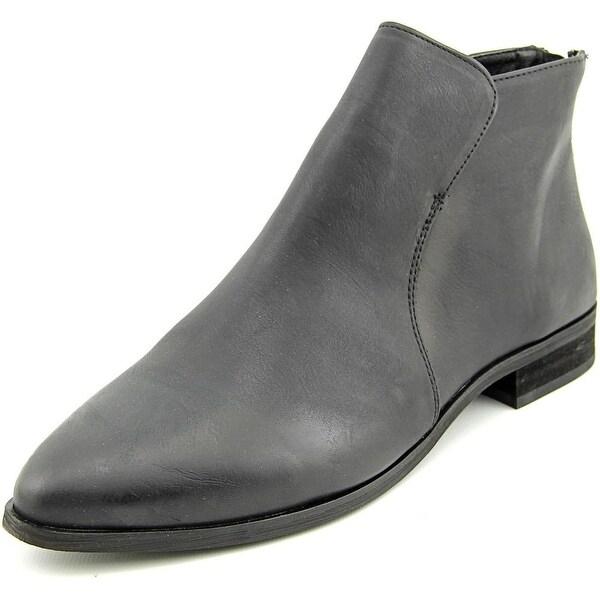 Mia Tucker Women Round Toe Synthetic Black Ankle Boot