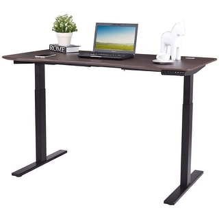 costway wide 7button electric sit to stand desk height adjustable 28