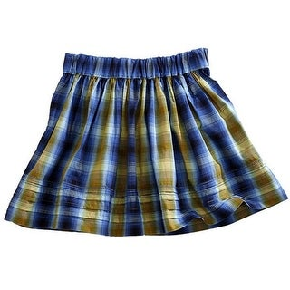 Tin Haul Western Skirt Womens Tiered Blue Gold 10-060-0062-0713 BU - M