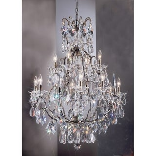 "Classic Lighting 9063-ABG 39"" Crystal Chandelier from the Garden of Versailles Collection"