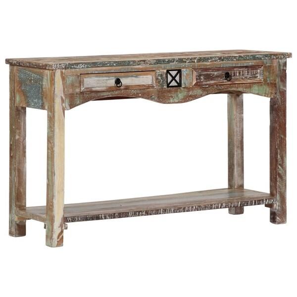 "vidaXL Console Table 47.2""x15.7""x29.5"" Solid Reclaimed Wood"