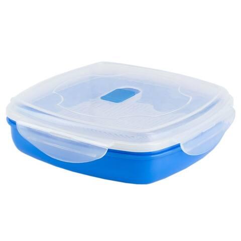 Plastic Microwave Steamer, Blue