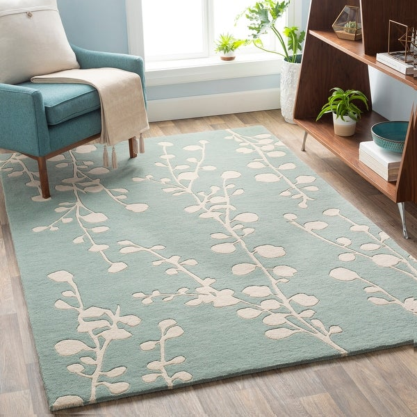 Anneliese Handmade Floral Wool Area Rug. Opens flyout.