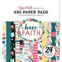 """Echo Park Double-Sided Paper Pad 6""""X6"""" 24/Pkg-Have Faith, 12 Designs/2 Each"""