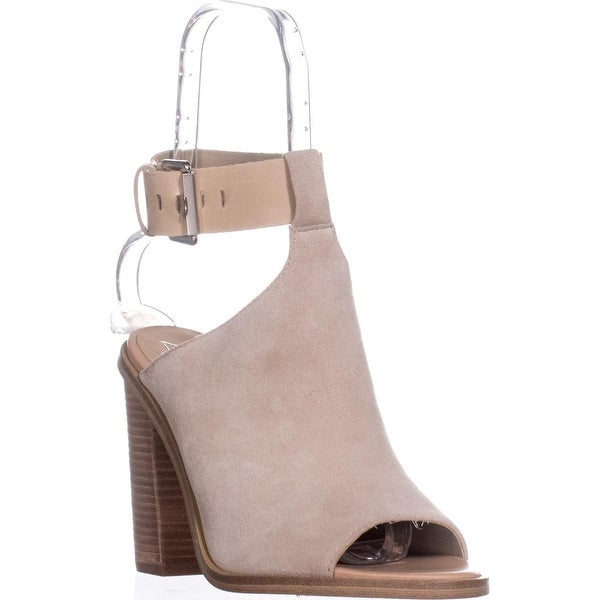 Marc Fisher Vashi Peep-Toe Sandals, Light Natural - 9.5 us