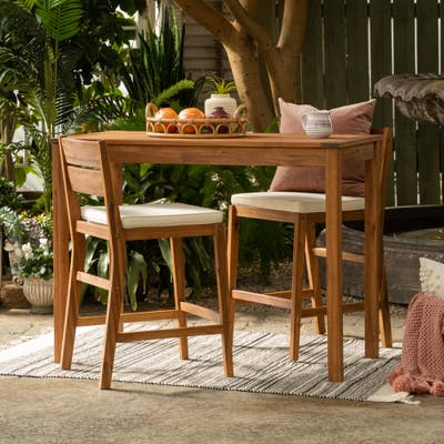 3-Piece Acacia Counter Height Dining Set by Havenside Home