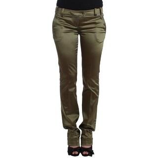 Galliano Galliano Green Slim Fit Pants - it40-s