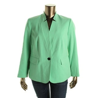 Nine West Womens Plus Woven Long Sleeves One-Button Blazer - 20W