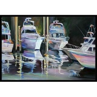 Carolines Treasures JMK1048JMAT Deep Sea Fishing Boats Indoor & Outdoor Mat 24 x 36 in.