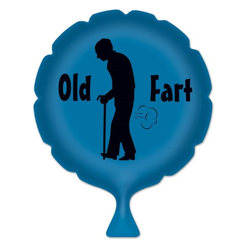 "Pack of 6 Blue ""Old Fart"" Whoopee Cushion April Fools Day Party Favors 8"""