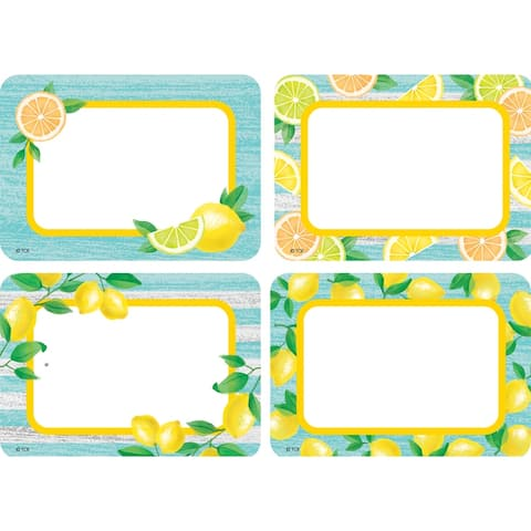 Lemon Zest Name Tags/Labels - Multi-Pack, 36 Per Pack, 6 Packs - One Size