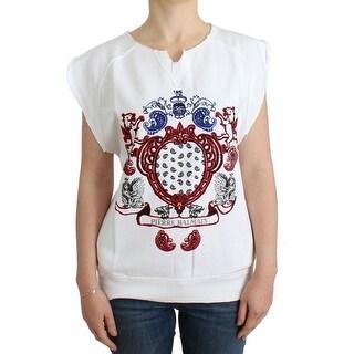 Balmain Balmain White printed cotton sweatshirt - XS