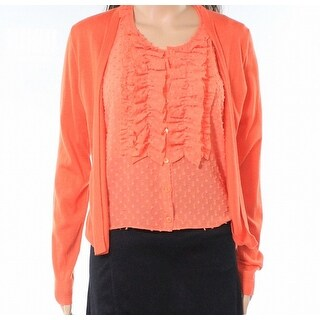 J.Crew Womens Small Wool Ruffled Button Down Knit Top