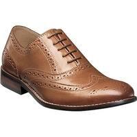 Nunn Bush Men's TJ Wing Tip Oxford Tan Leather