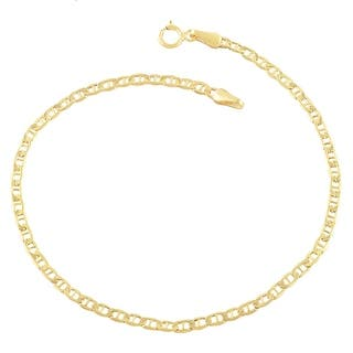 Mcs Jewelry Inc 14 Karat Yellow Gold Mariner Anklet Bracelet 10 Inches