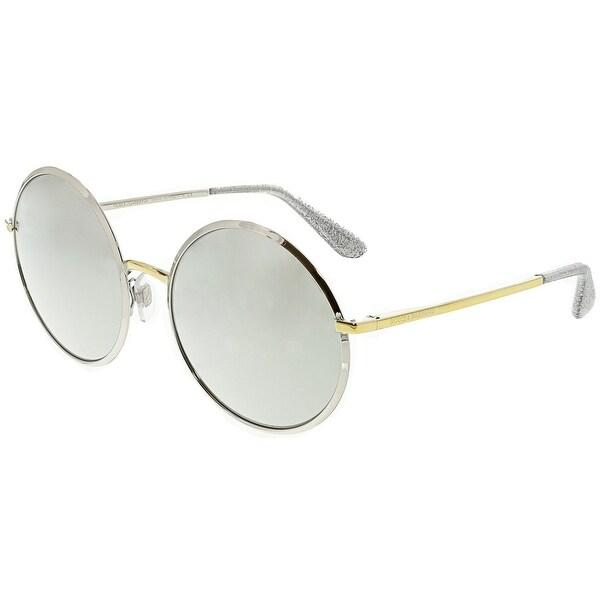 ad947574311d Shop Dolce   Gabbana Women s Mirrored DG2155-13076G-56 Silver Round ...