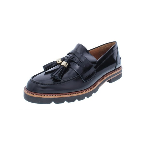 dfdaee63fc9 Shop Stuart Weitzman Womens Manila Loafers Patent Leather Tassel ...