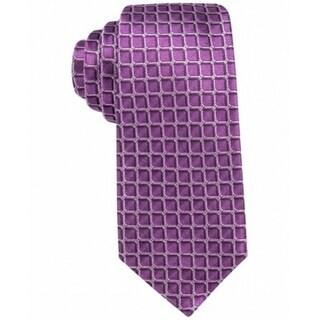 Alfani Pink Men's One Leonard Grid Silk Neck Tie