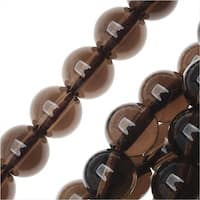 Smokey Quartz Gemstone Beads, Round 6.5mm, 15.5 Inch Strand, Brown
