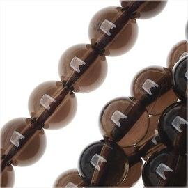Smokey Quartz Gemstone Beads, Round 6.5mm, 15.5 Inch Strand, Brown
