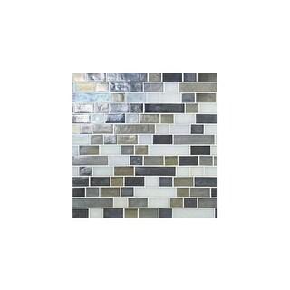 Daltile GH34RANDPMP  Glass Horizons - Random Linear Mosaic Wall Tile - Smooth Glass Visual