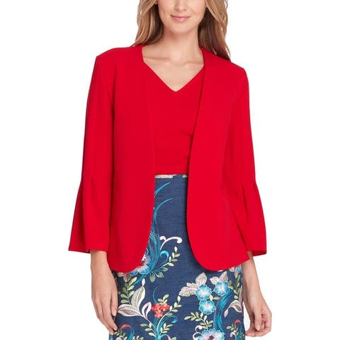 Tahari ASL Womens Petites Blazer Suit Separate Office Wear