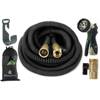 ALL NEW 2017 Heavy Duty Expandable Garden Hose Set 75 Feet
